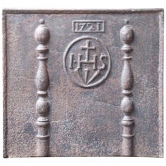 18th Century French 'Pillars with Medieval IHS Monogram' Fireback