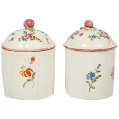 18th Century French Porcelain Blush Pot 'Pot à Fard' by Mennecy