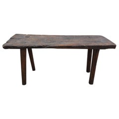 18th Century French Primitive Walnut Console Table
