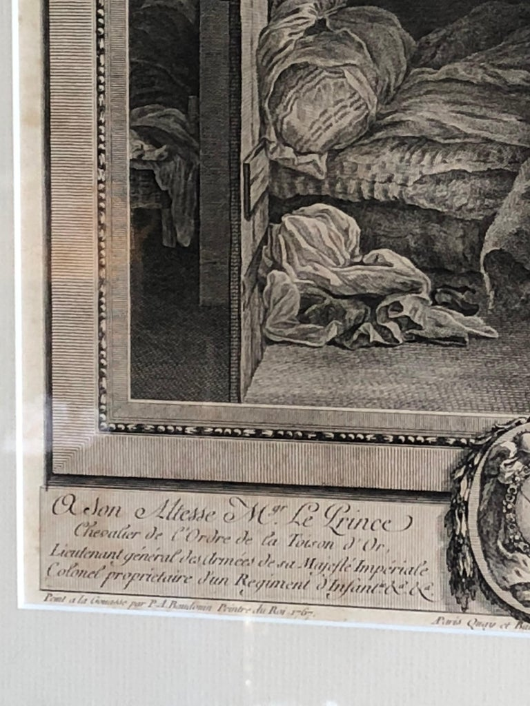 Paper 18th Century French Print by Pierre Philippe Choffard For Sale