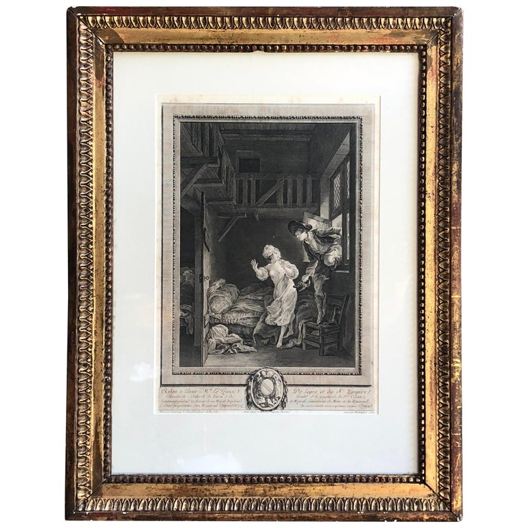 18th Century French Print by Pierre Philippe Choffard For Sale
