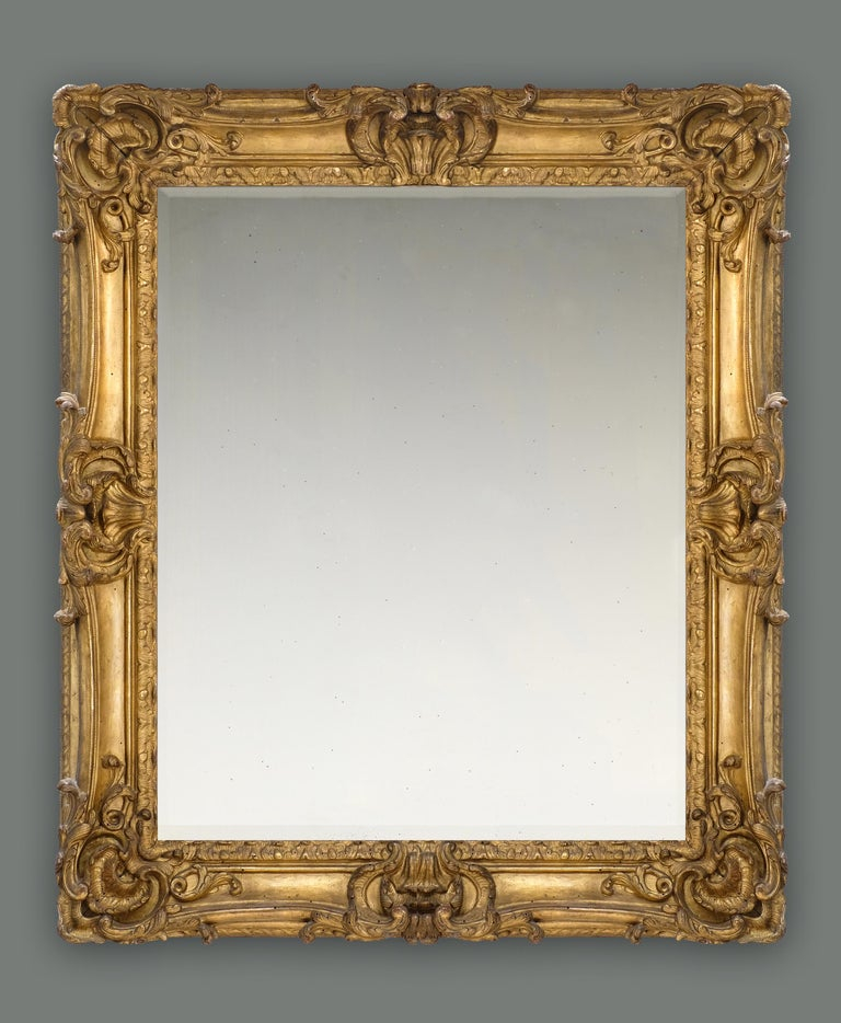 Hand-Carved 18th Century French Provençal Louis XV Rococo Frame, with Choice of Mirror For Sale