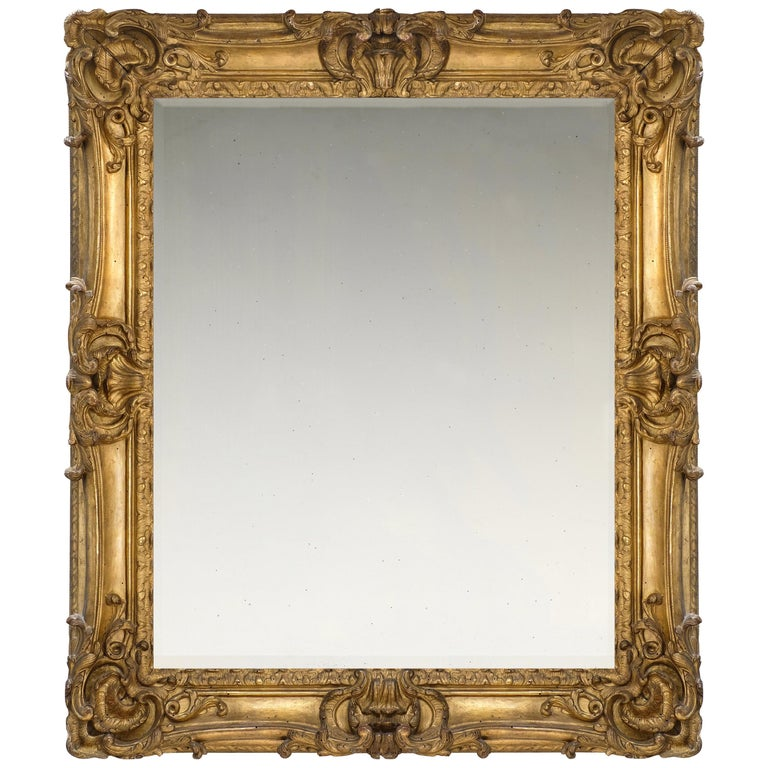 18th Century French Provençal Louis XV Rococo Frame, with Choice of Mirror For Sale