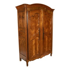 18th Century French Provincial Armoire in Cherrywood