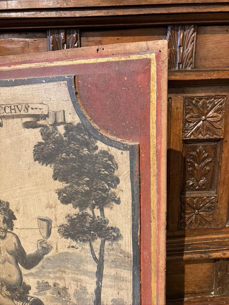 18th Century French Provincial Boiserie Panel Painting of Bacchus For Sale 6