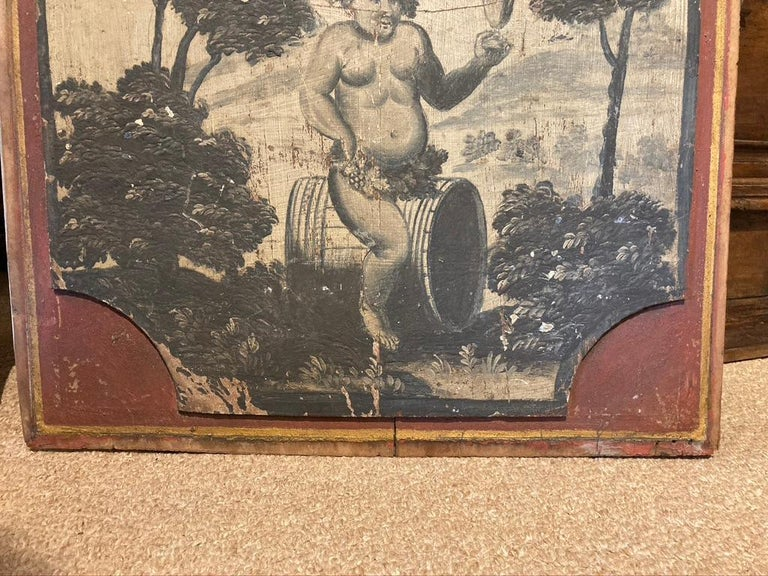 18th Century French Provincial Boiserie Panel Painting of Bacchus For Sale 8
