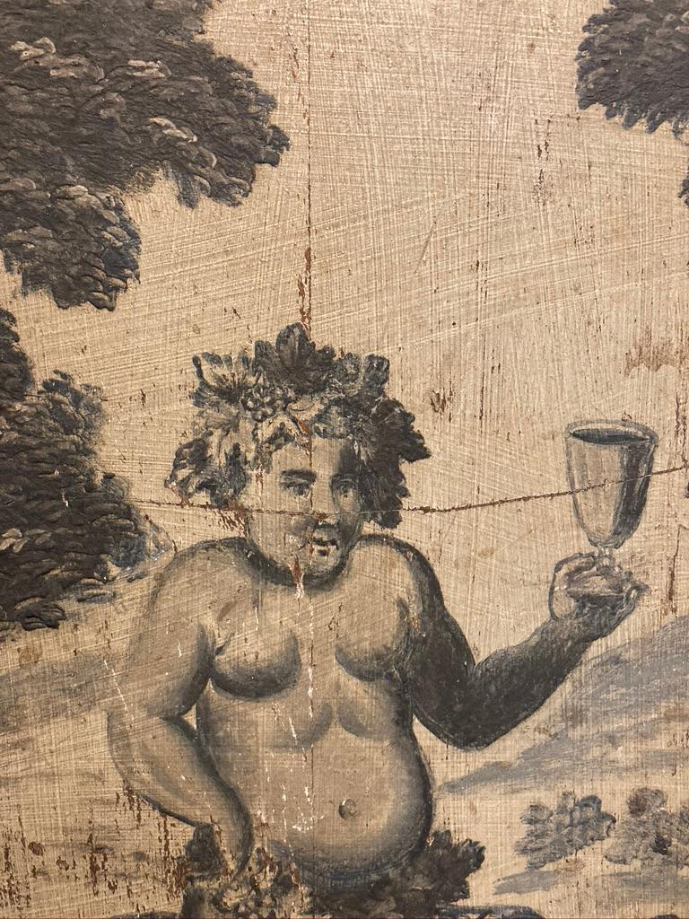 18th Century French Provincial Boiserie Panel Painting of Bacchus For Sale 11