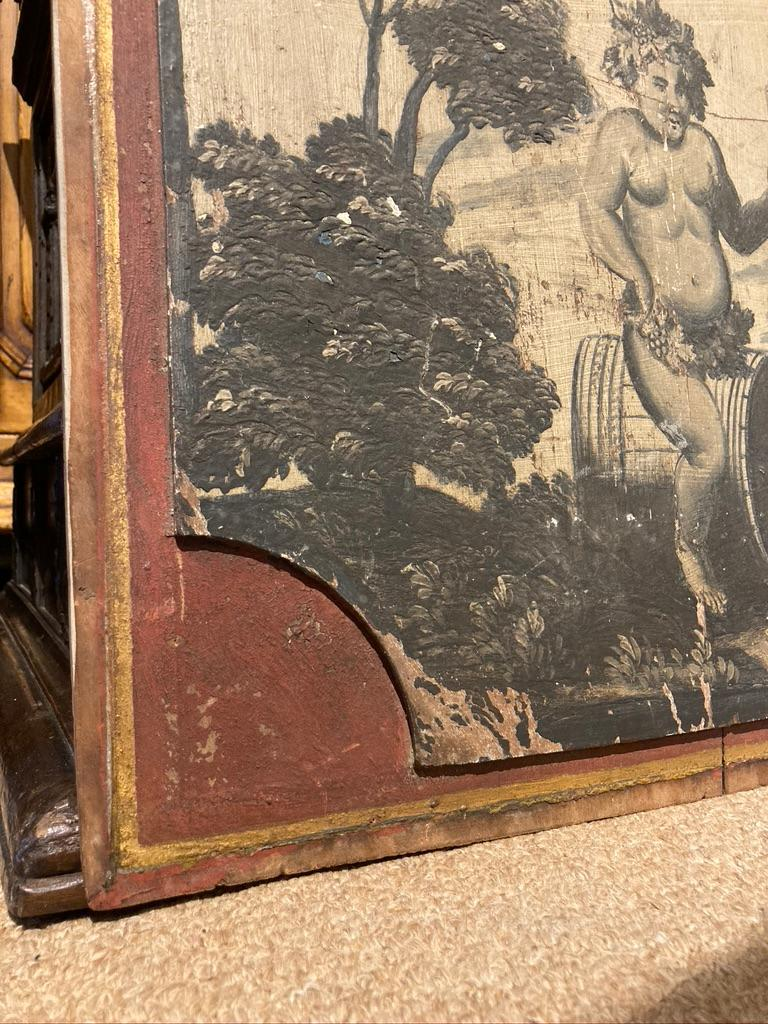 18th Century French Provincial Boiserie Panel Painting of Bacchus For Sale 4