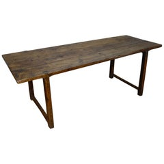 18th Century French Provincial Cherrywood Farmhouse Table Refectory