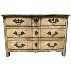 18th Century French Regence Commode with a Painted Finish