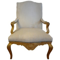 18th Century French Régence Giltwood Chair