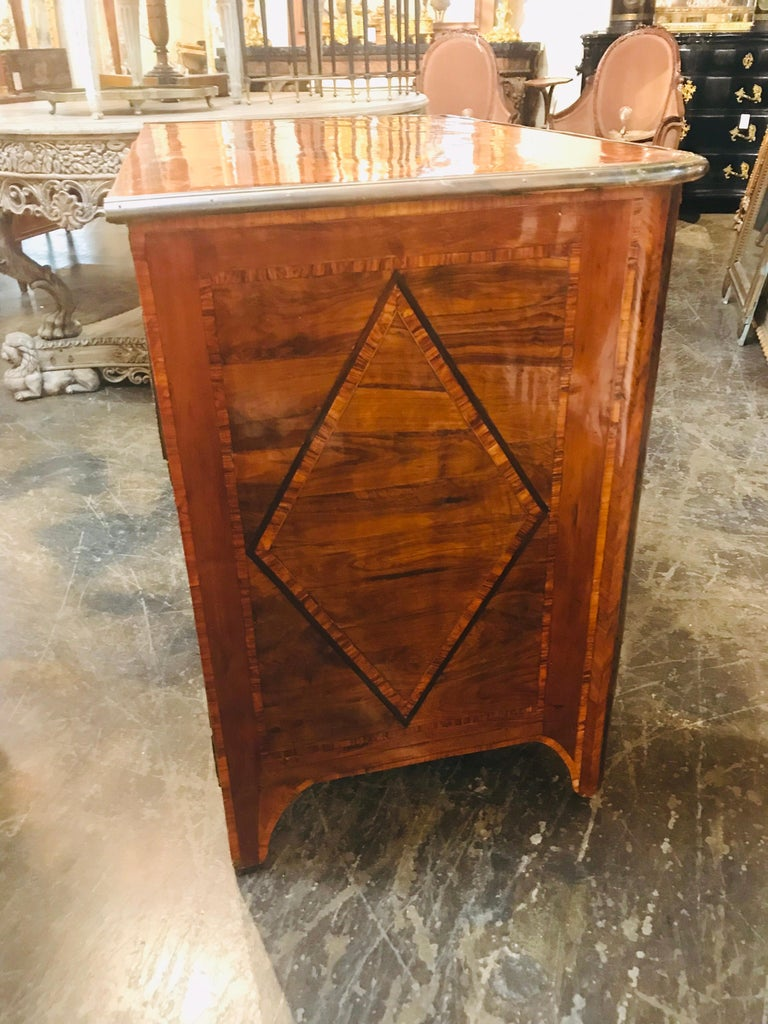 Inlay 18th Century French Regence Inlaid Walnut Commode For Sale