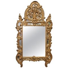 18th Century French Regence Mirror with a Gold Leaf Finish