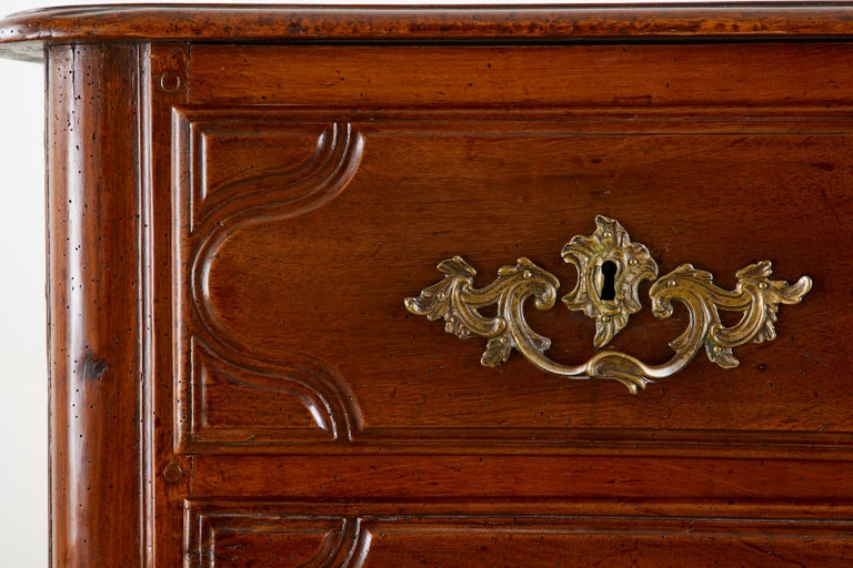 18th Century French Regence Walnut Commode or Chest For Sale 7
