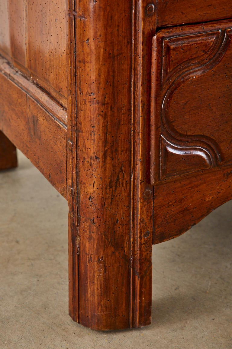 18th Century French Regence Walnut Commode or Chest For Sale 8