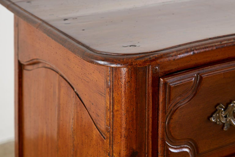 18th Century French Regence Walnut Commode or Chest For Sale 9