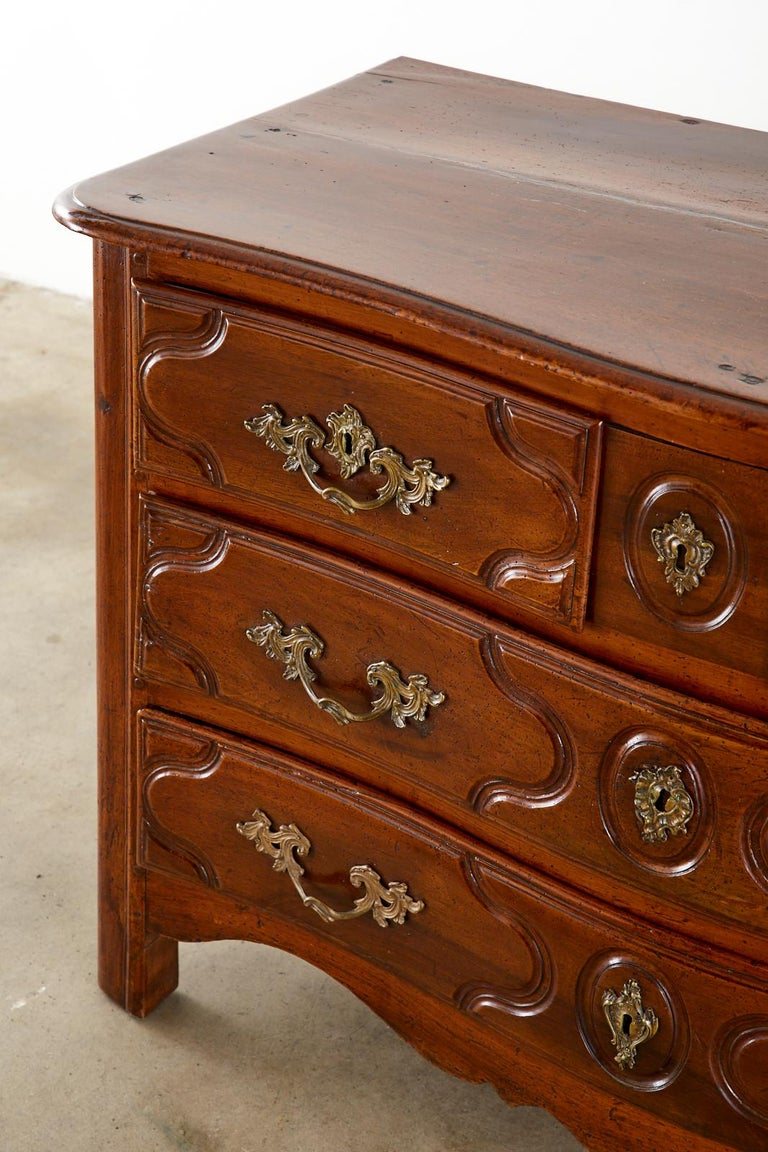 18th Century French Regence Walnut Commode or Chest For Sale 3