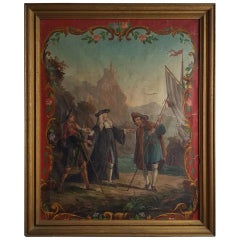 18th Century French Religious Painting of Pilgrims