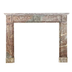 18th Century French Rustic Marble Louis XVI Period Fireplace Surround