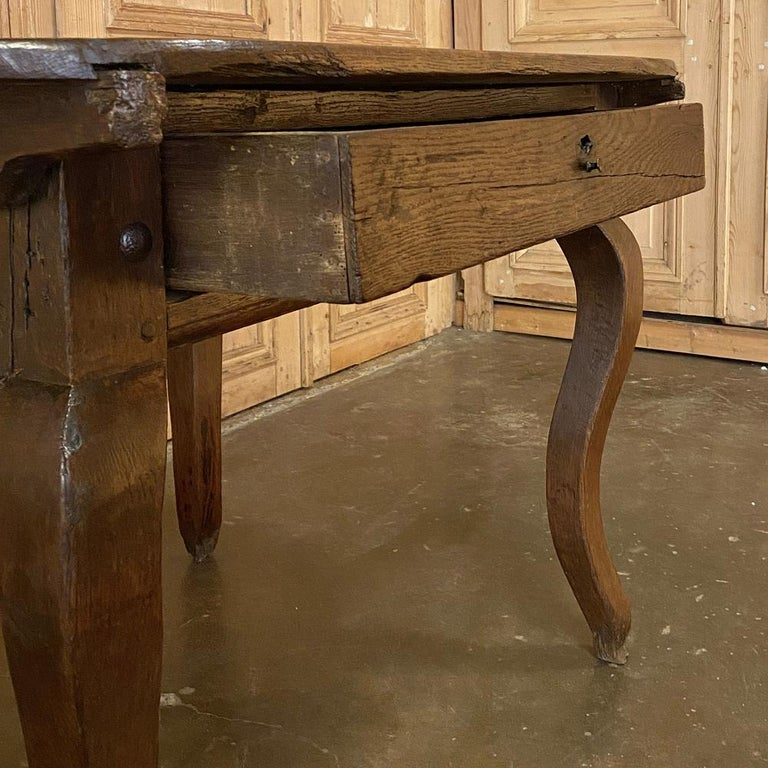 Oak 18th Century French Rustic Writing Table For Sale