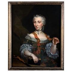 """18th Century French School """" Lady Portrait """""""