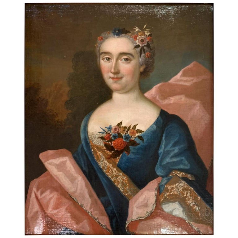 """18th Century French School """"Portrait"""" Family Hericart Thury For Sale"""