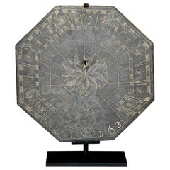 18th Century French Slate Sundial
