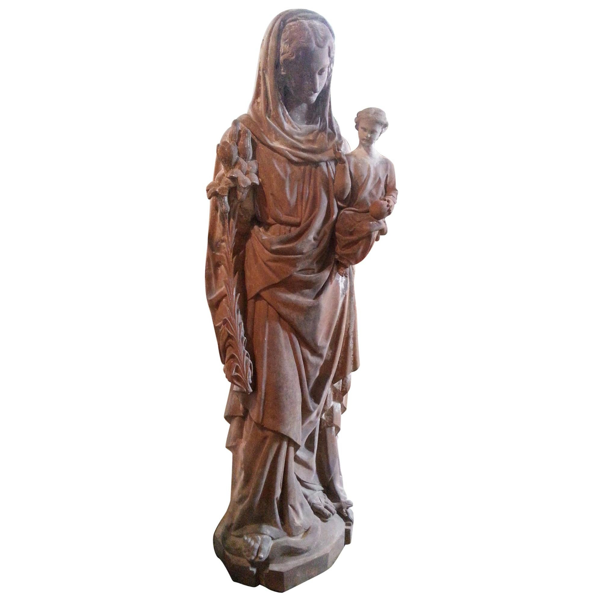 18th Century French Statue in Terracotta