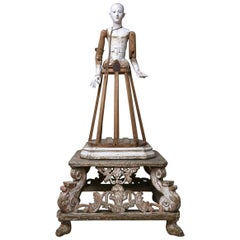 18th Century Italian Statue of Madonna on a Palanquin