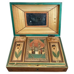 18th Century French Straw Marquetry, 'Marqueterie de Paille' Work Box