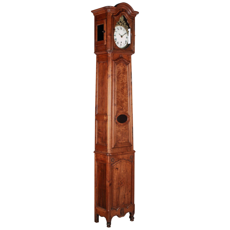 18th Century French Tall Case Clock or Horloge de Parquet