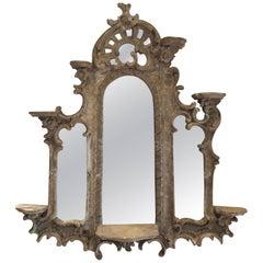 18th Century French Triptych Mirror