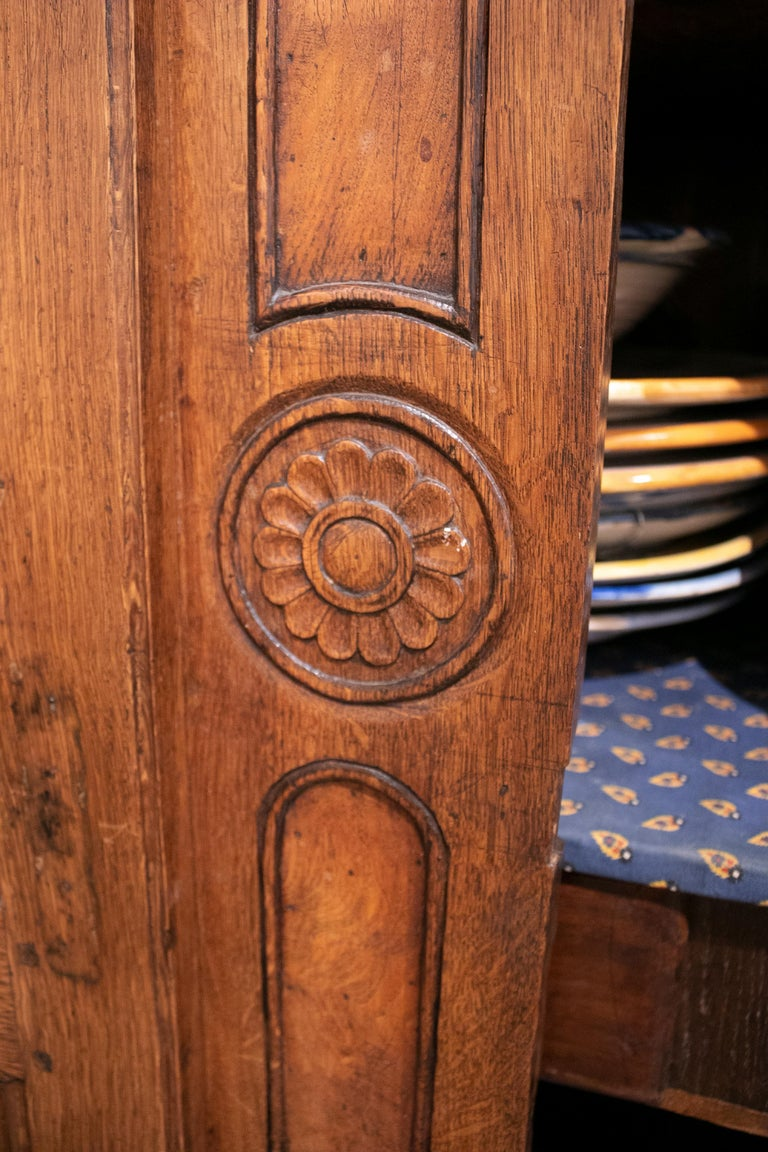 18th Century French Two Door Oak Panelled Wardrobe For Sale 7