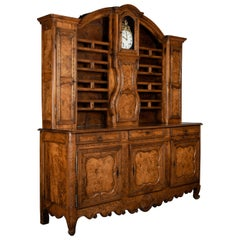 18th Century French Vaisselier or Sideboard with Clock