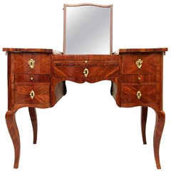 18th Century French Vanity in Violet Wood Louis XV Style as Migeon Cabinetmaker