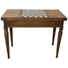 18th Century French Walnut and Inlaid Bone Game Table