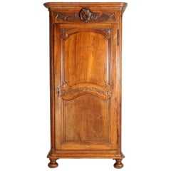 18th Century French Walnut Armoire or Bonnetiere
