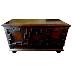18th Century French Walnut Coffer or Blanket Chest