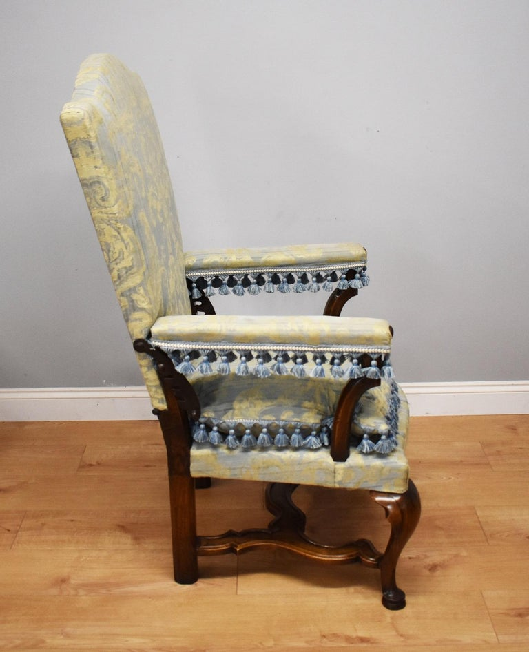For sale is a fine and unusual 18th century French walnut reclining chair, or