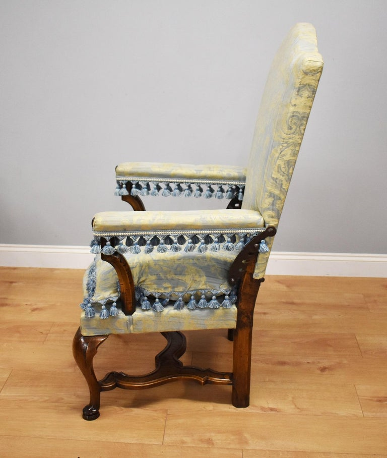 French Provincial 18th Century French Walnut Reclining Chair For Sale