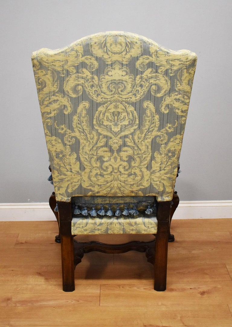 18th Century French Walnut Reclining Chair In Good Condition For Sale In Chelmsford, Essex