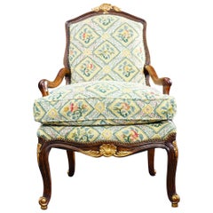 18th Century French Walnut Regence Armchair