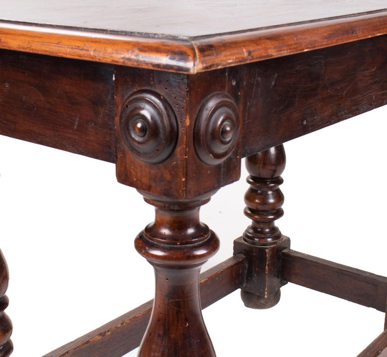 18th Century, French Walnut Single Drawer Table For Sale 4