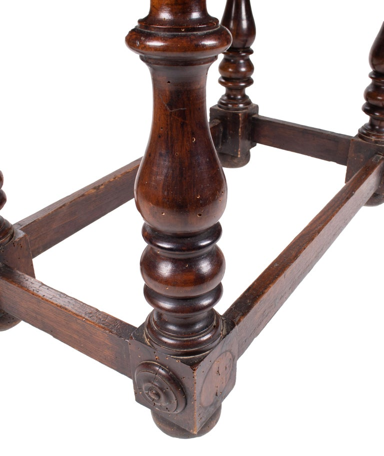 18th Century, French Walnut Single Drawer Table For Sale 5