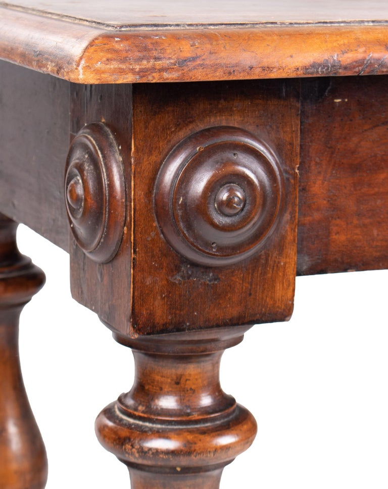18th Century, French Walnut Single Drawer Table For Sale 6