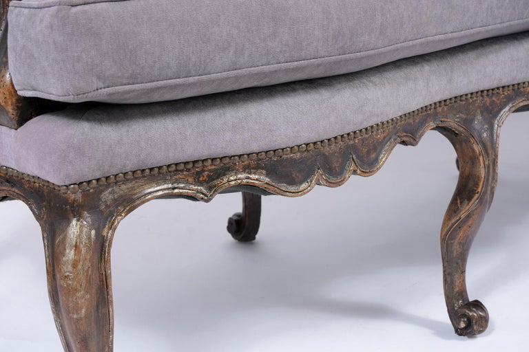 18th Century Antique French Walnut Sofa For Sale