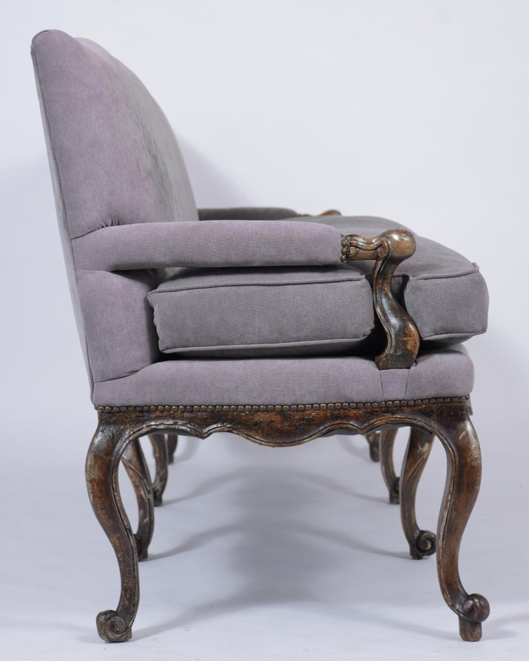 Antique French Walnut Sofa For Sale 1