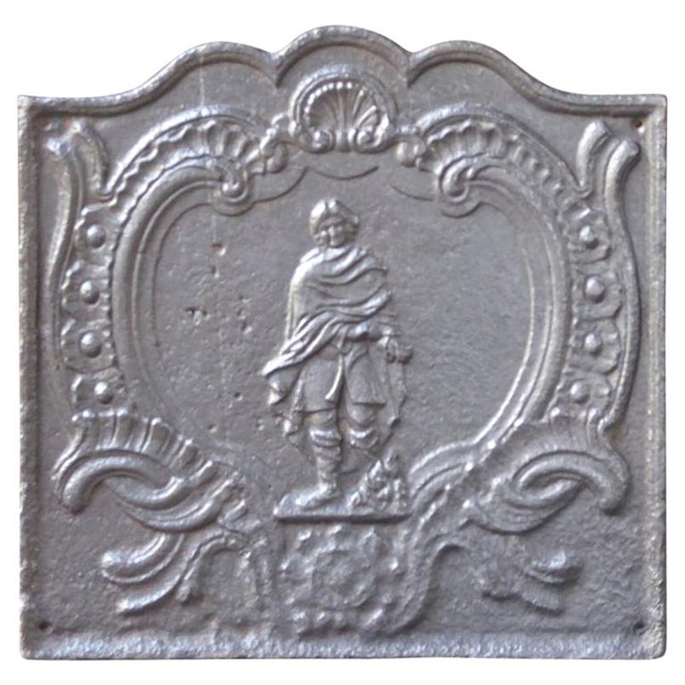 18th Century French 'Winter' Fireback For Sale