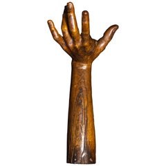 18th Century French Wooden Carved Hand