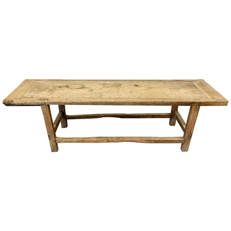 18th Century French Wooden Work Table For Sale